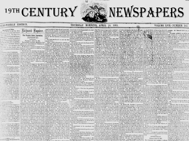 19th Century Newspapers Database Trial