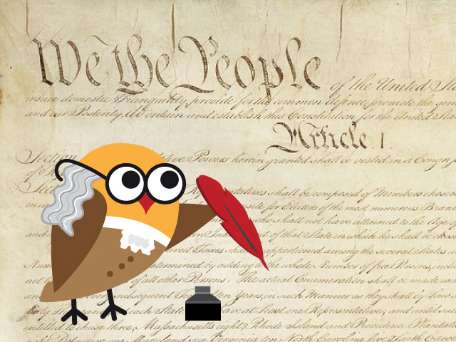 Constitution and Benjamin Franklin Owl