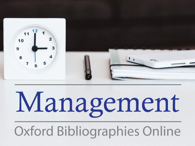 Oxford Bibliographies Online - Management