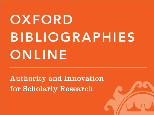 Oxford Bibliographies Online - Several Subject Areas