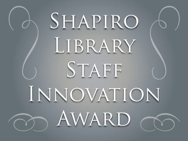 Shapiro Award