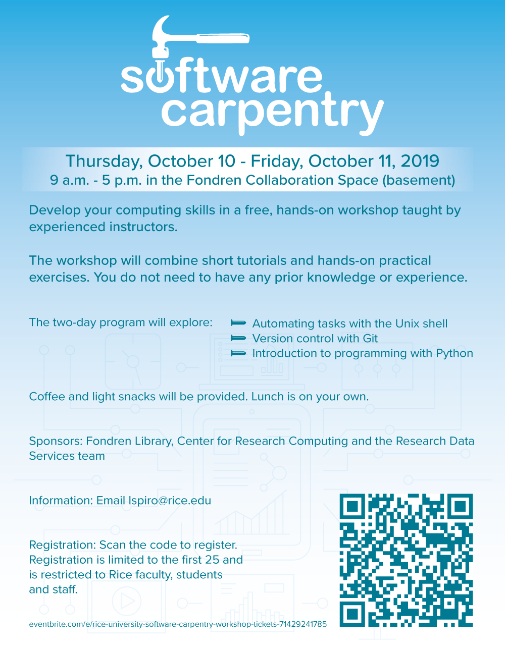 Software Carpentry Flyer