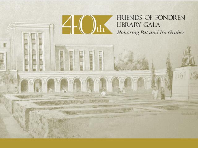 RESCHEDULED -- Friends of Fondren Library Gala and Auction