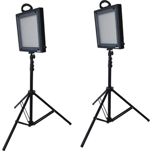 Bescor LED-500K 2 Light Studio Lighting Kit