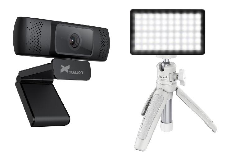 HD Webcam and mini LED panel
