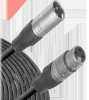 Microphone Cable -  3-Pin XLR Male to 3-Pin XLR Female