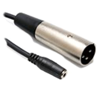 3.5mm Female to XLR Male Adapter