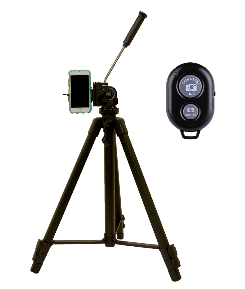Phone to Tripod Adapter and Bluetooth Remote Shutter