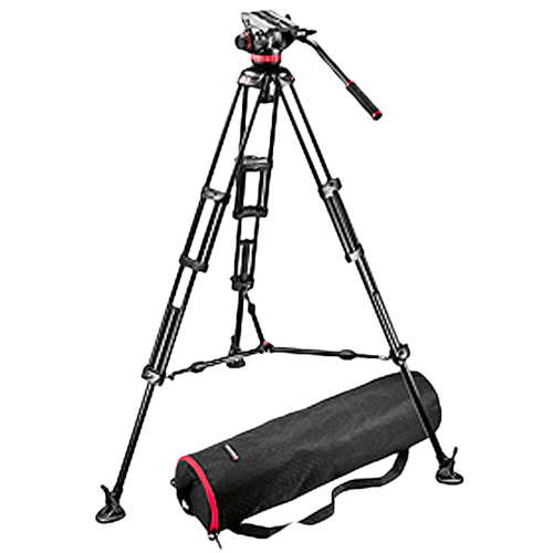 Manfrotto MVH502A Fluid Head and 546B Tripod System with Carrying Bag