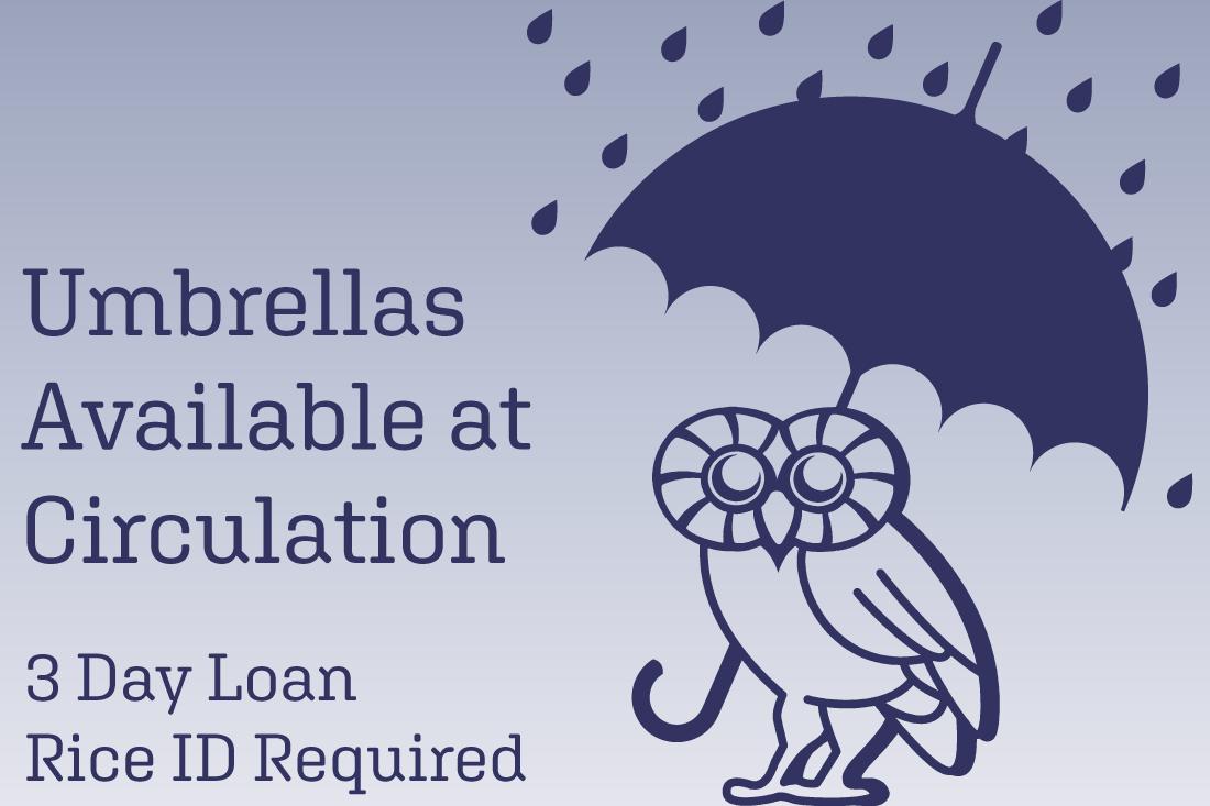 Umbrellas - 3 day loan