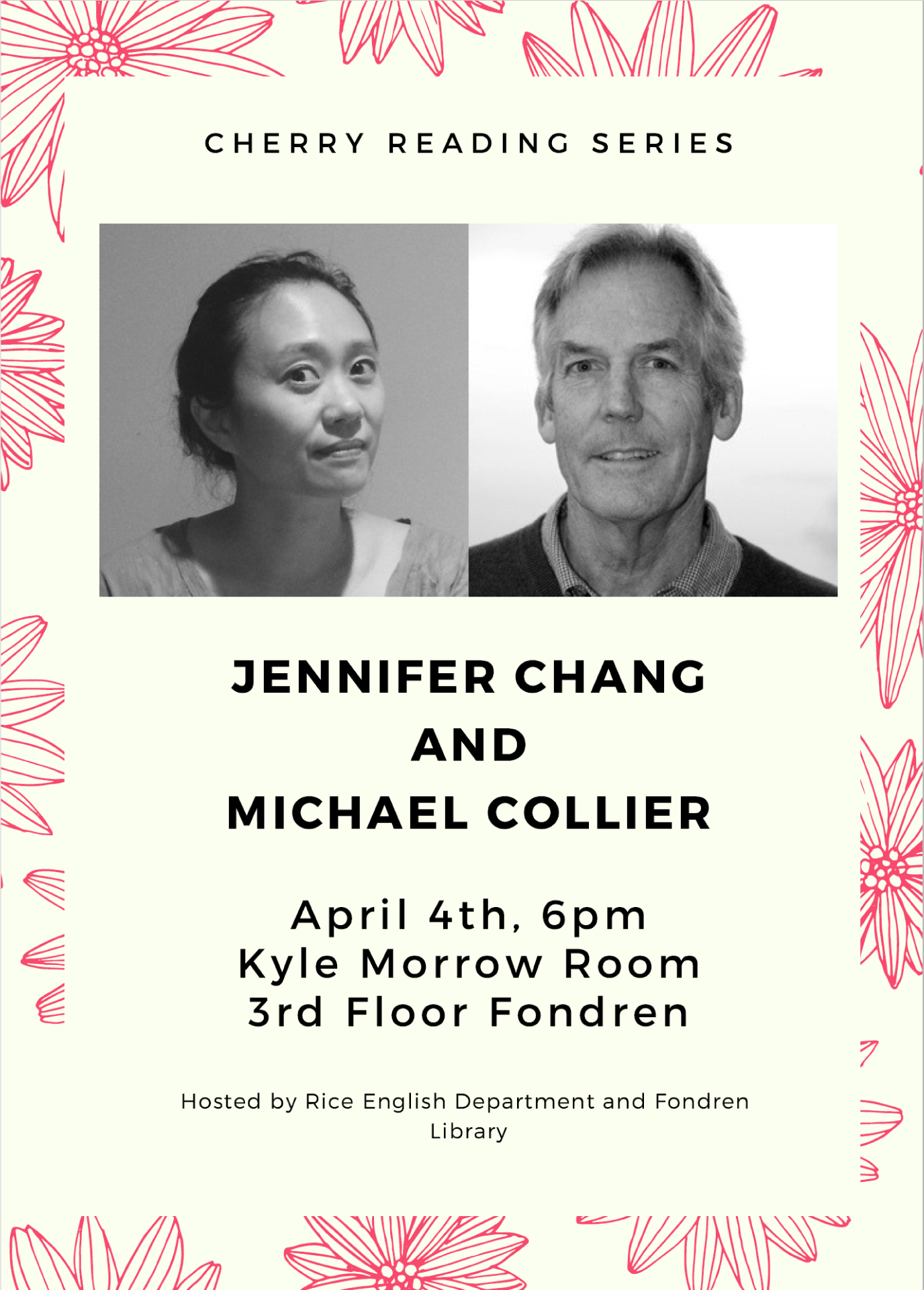 Cherry Reading Series - Chang and Collier