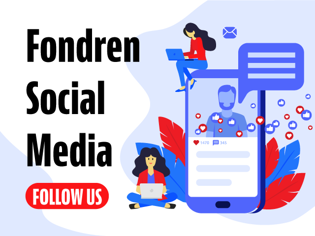 Fondren's Twitter, Facebook and Instagram
